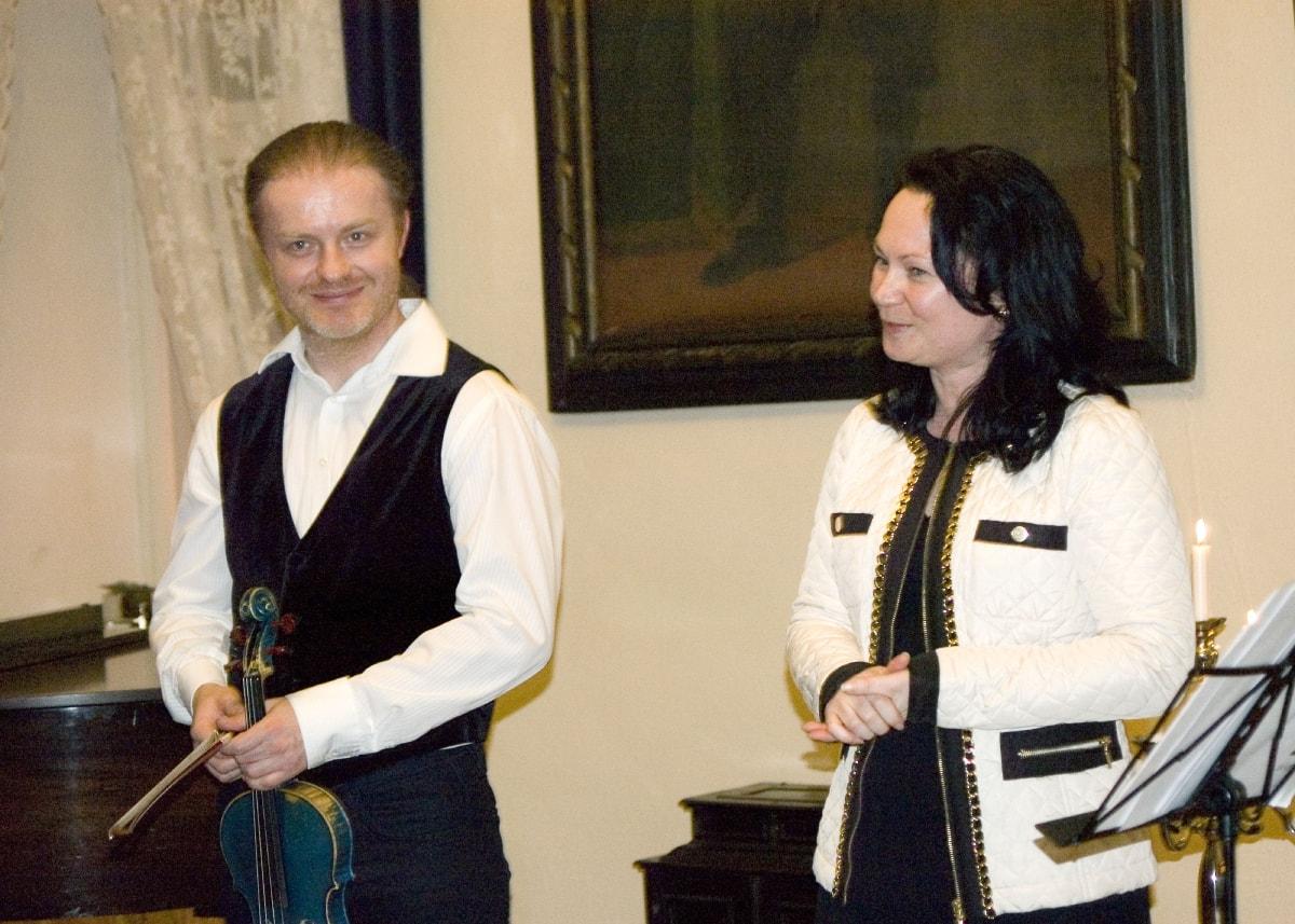 Zámek Bludov - koncert houslisty Pavla Šporcla