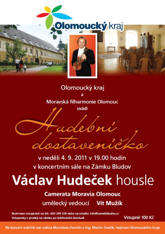 Zámek Bludov - koncert Václava Hudečka